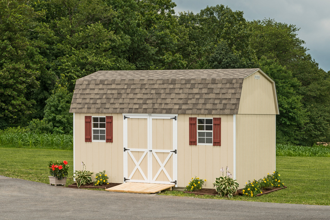 garden hostetler wood siding sheds furniture barns buildings s shed painted and